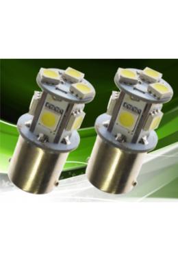 LED Leuchte BA15s mit xenonweissen SMD in 360° (12V)