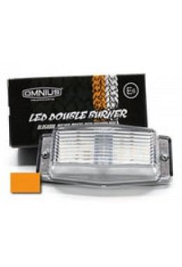 Omnius LED Doppelbrenner Leuchte orange mit klarglas Glas (Kühlergrill)