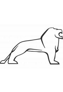 Besticktes Handtuch Löwe