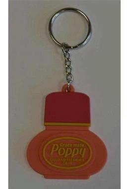 """Orange / Roter Schlüsselanhänger """"Poppy"""""""
