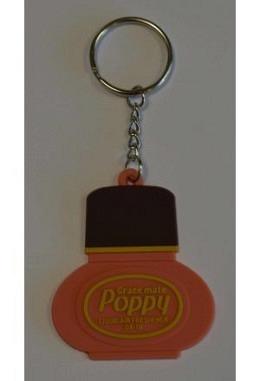 """Orange / Brauner Schlüsselanhänger """"Poppy"""""""