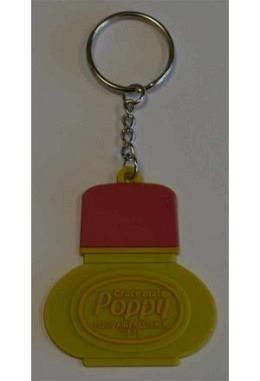 "Gelb / Roter Schlüsselanhänger ""Poppy"""