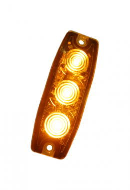 Oranges LED Blitzlicht Ultraflach (3 LED)