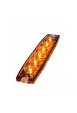 Oranges LED Blitzlicht ultraflach 6 LED