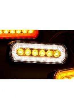 LED Blitzlicht orange mit xenonweissem Halogenring