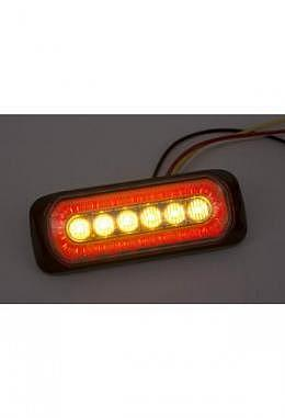LED Blitzlicht orange mit rotem Halogenring