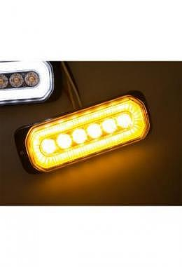 LED Blitzlicht orange mit orangem Halogenring